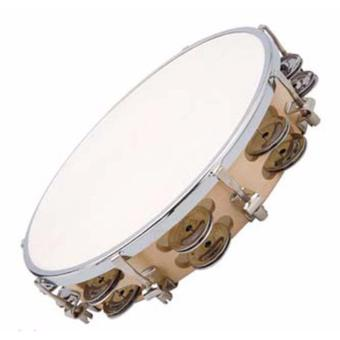 Trống lắc tay Tambourine (Trắng)