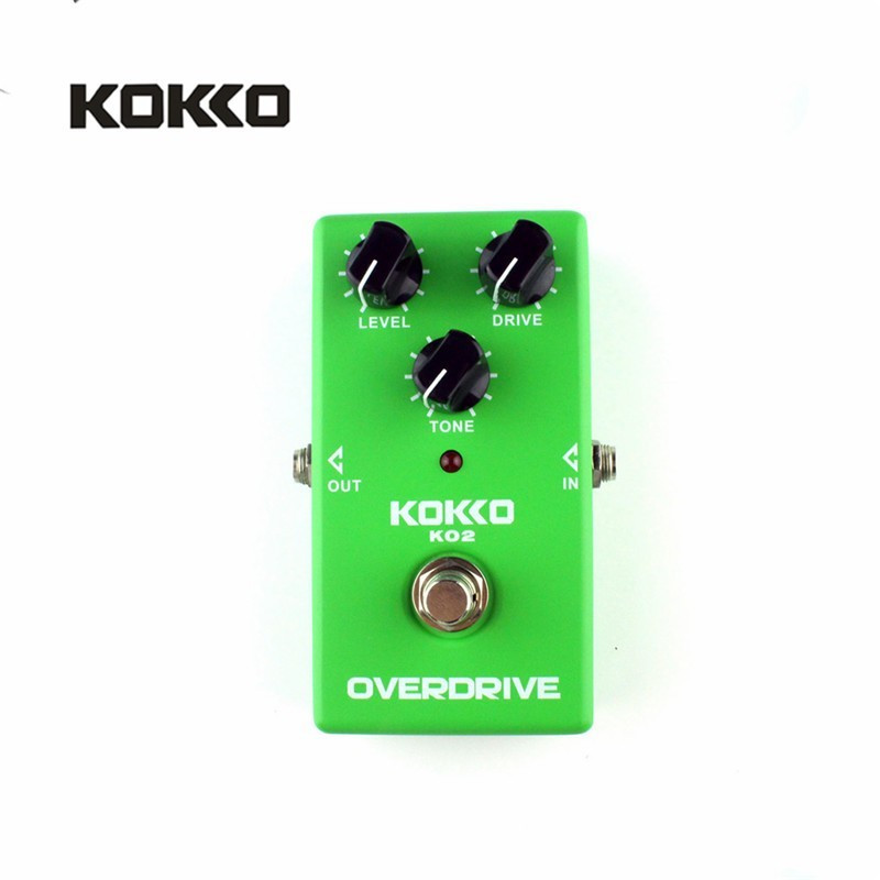 KOKKO KO2 Vintage Tube Overdrive Guitar Effects Pedal Analog Overdrive Guitarra Effects High Gain Booster True Bypass Parts - intl