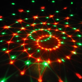 LED RGB Crystal Magic Ball Effect Light Disco DJ Stage Lighting Rotating Party Bar Club Light - intl