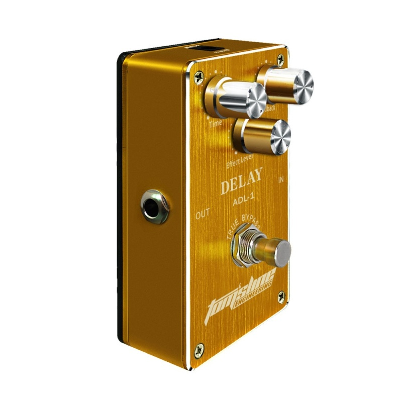 Media, Music Books Effects Pedals Adl-1 Delay Electric Guitar Effect Pedal Aluminum Alloy Housing True Bypass - intl