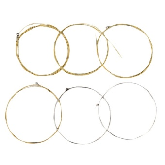 Media, Music Books Guitar Bass Accessories A Set Of 6 Metal Steel Strings For Acoustic Guitar E A D G H(B) And E String 1M - intl