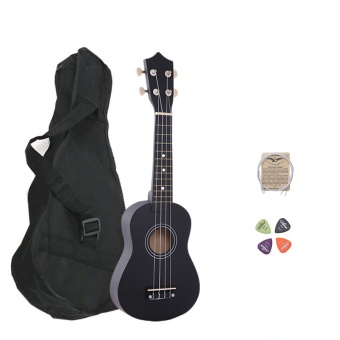 Media, Music Books Ukulele 21 Inch Wood Concert Ukulele With Free Bag Spare String Ukulele Pick - intl