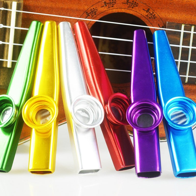 Metal kazoo Flute guitar companion for gift Red - intl