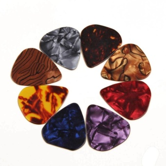 Multicolor Celluloid Acoustic Electric Guitar Picks Plectrumss 0.46Mm Color Random - intl