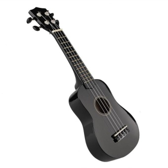 "Oem 21"" Acoustic Strings Ukulele (Black) - intl"