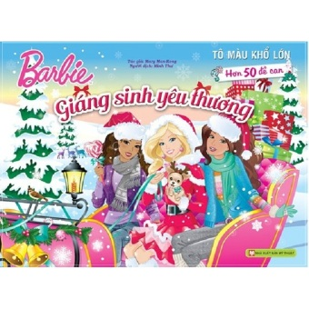 Sách tô màu Barbie khổ lớn – Giáng sinh yêu thương