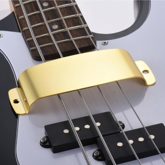 ... Steel Pickup Cover Protector for 4-string Jazz Bass Electric Bass Guitar Part Replacement Gold ...