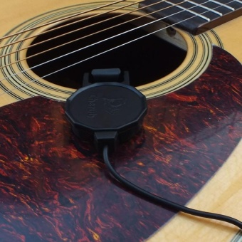 """Wcp-60G Clip-On Pickup Pick-Up For Guitar With 1/4"""" Jack2.5M Cable Compact Professional - intl"""