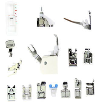 15 Pcs Multifunction Sewing Machine Presser Walking Foot Feet KitAccessories for Brother Singer Feiyue - intl