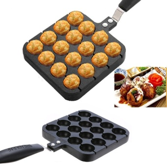 16 Holes Octopus Ball Plate Takoyaki Grill Pan Cooking Tools Cookware - intl