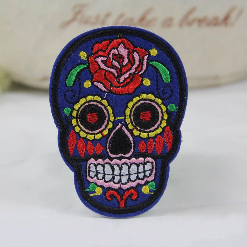 6PC DIY Skull Patch Patch Embroidered Cloth Iron On Patch SewFabric Badges