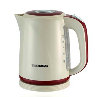Ấm đun nước siêu tốc Tiross TS495 1.7L (Trắng phối đỏ)