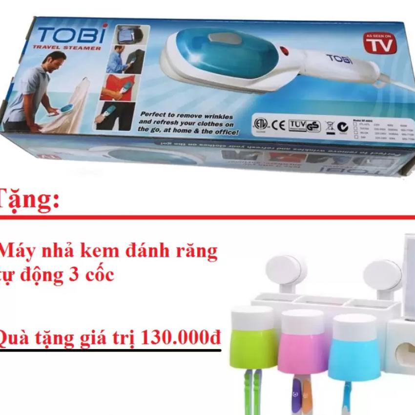 Bàn ủi hơi nước cầm tay + Tặng Máy nhả kem đánh răng