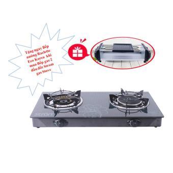 Bếp Gas 2 Đầu Đốt STROM + Tặng 1 Bếp Nướng Raclette Eco Korea