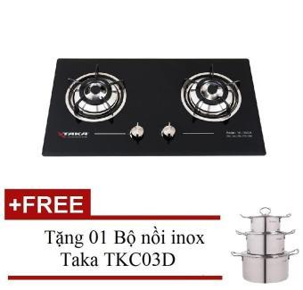 Bếp gas âm Taka TK-920A + Tặng 01 Bộ nồi inox Taka TKC03D