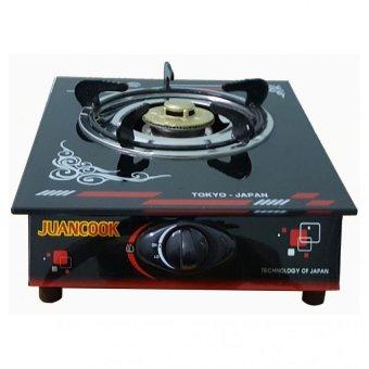 Bếp gas đơn mặt kính chia lửa nhôm JUANCOOK JKR 13LN (Đen)