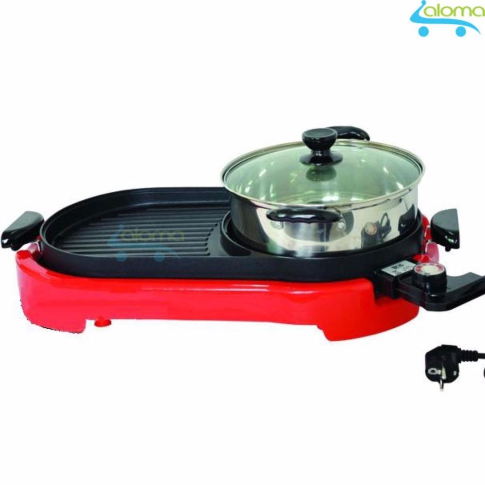 Bếp lẩu nướng BBQ không khói kèm nồi lẩu inox Magic M-898A tặng bộ 5 hộp inox có nắp