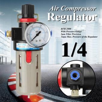 BFR-2000 1/4''Air Compressor Oil Lubricator Moisture Water Trap Filter Regulator - intl
