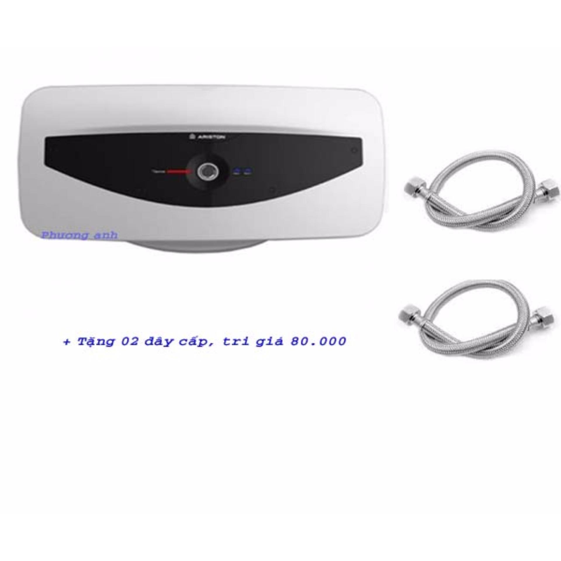 Bình nước nóng gián tiếp Ariston Slim SL30QH + Tặng 02 dây lắp bình