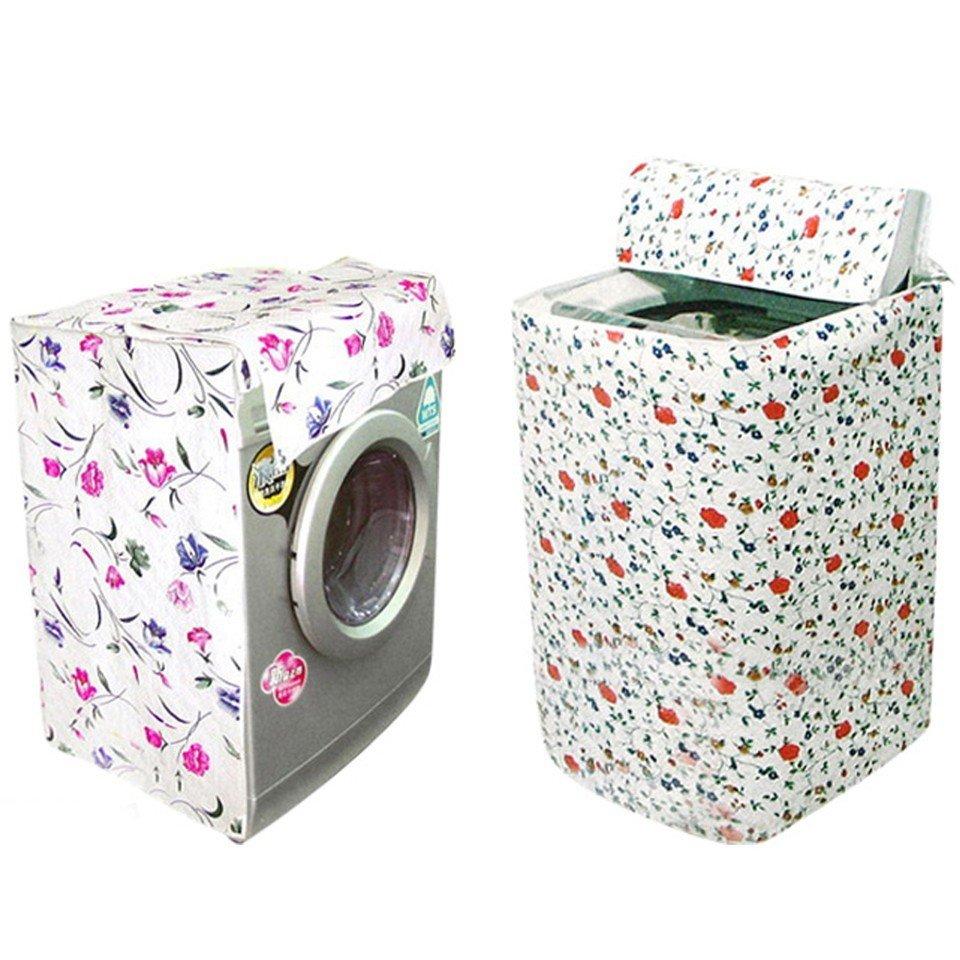 Bộ 2 Vỏ bọc máy giặt cửa trên (Trắng phối hoa)