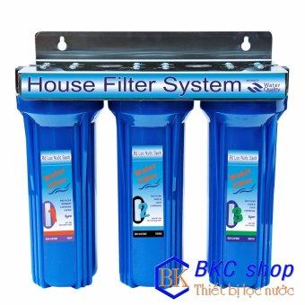 Bộ lọc nước sinh hoạt 3 cấp lọc 10 inch (xanh)