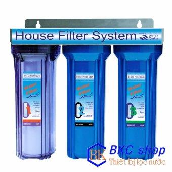 Bộ lọc nước sinh hoạt 3 cấp lọc 10 inch (xanh trong – xanh)