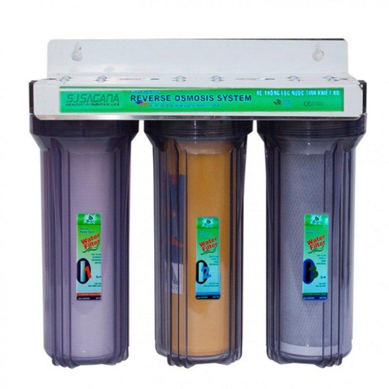Bộ lọc nước sinh hoạt 3 cấp SJsagana ly 10'' (Trong)