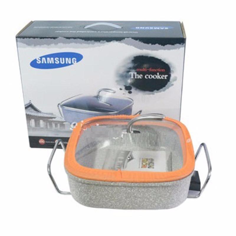 Chảo điện đá hoa cương Samsung HS-SS02 ( Nguyên khối )(Bạc)