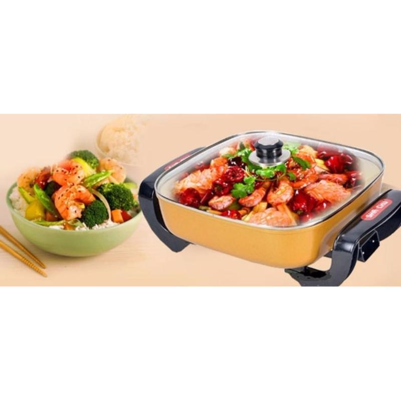 Chảo Lẩu Điện Korea Cook Còn Thua Bếp Này, Bếp Lẩu,Nướng, Xào, Nấu, Đa Năng Hpc-169, Bếp Nướng Không Khói - Hàng Cao Cấp Nhập Khẩu, Xả Kho Chỉ Hôm Nay
