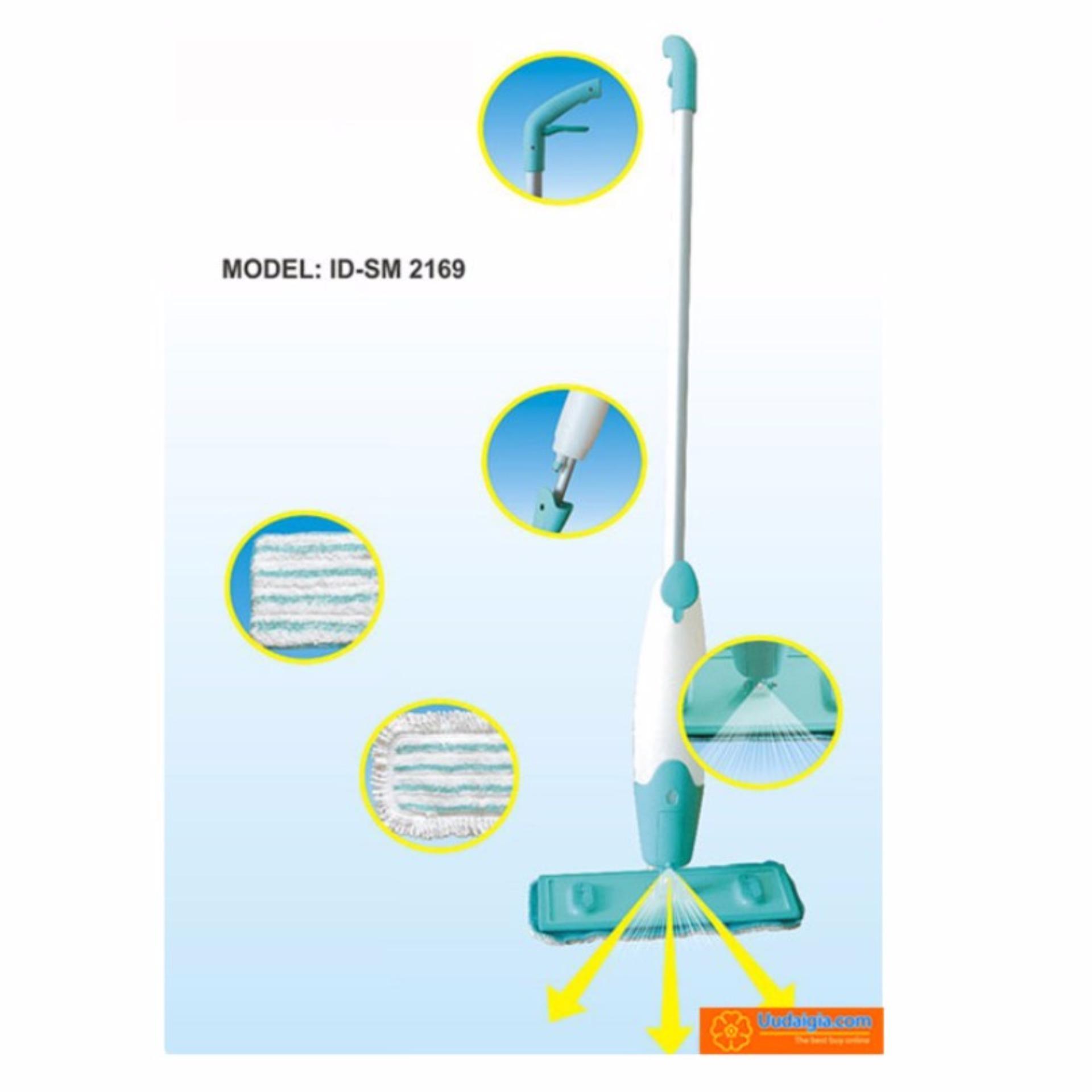 Chổi lau nhà kiêm bình phun nước 2in1 xoay 360 độ (Xanh) - Hàngnhập khẩu