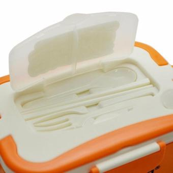 Combo hộp cơm hâm nóng Chefman ruột tháo dời (Cam) + Túi đựng cao cấp
