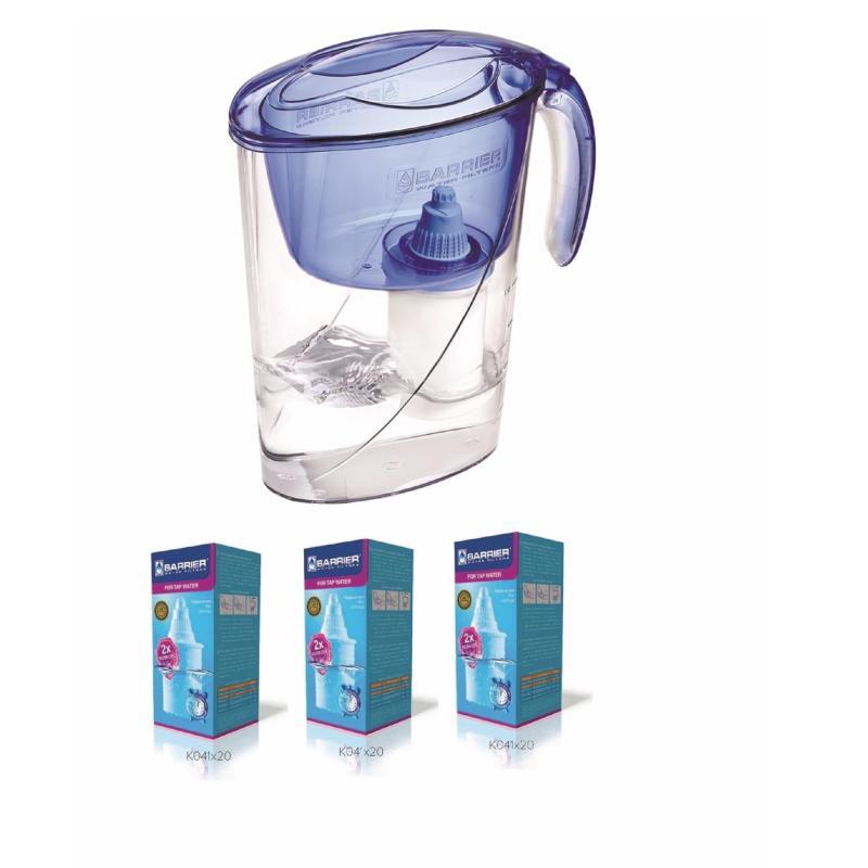 Combo Sử dụng 1 năm ca lọc nước Barrier cho gia đình 2 người (1 ECO-BL+3 FC-STD)