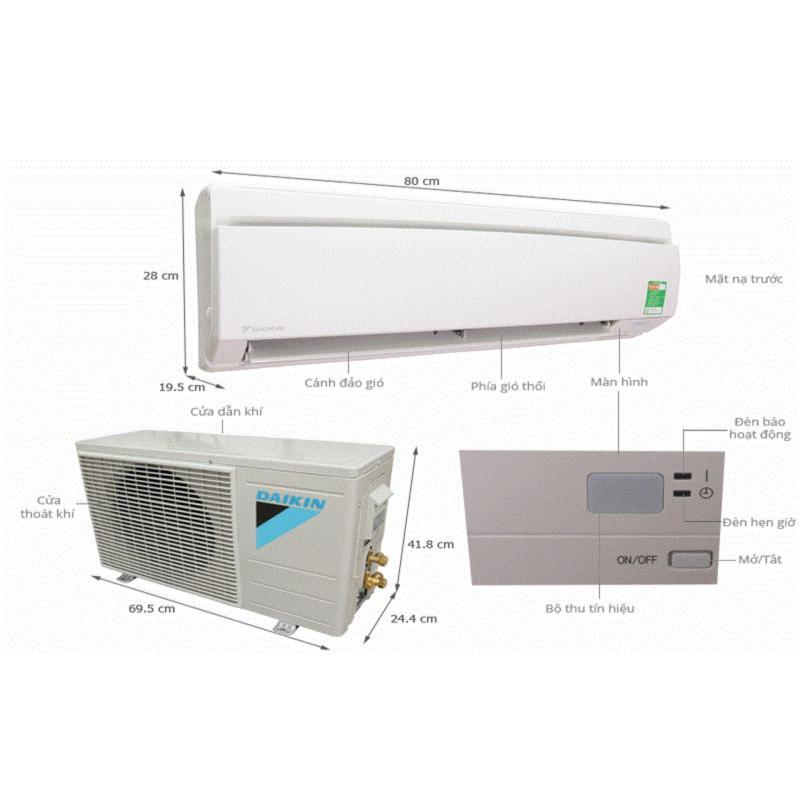 Bảng giá Điều hòa 1 chiều Daikin 9000BTU GAS 410A FTNE25MV1V9