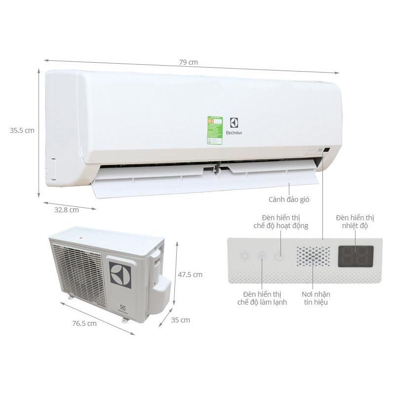 Bảng giá Điều hòa Electrolux 9000 BTU ESM09CRF-D3