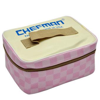 Hộp cơm điện hâm nóng chefman có túi CM112N (Hồng)