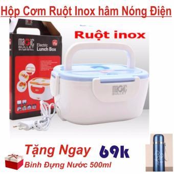 Hộp Cơm Điện Ruột INOX Hâm Nóng Thức Ăn Tiện Dụng + Bình Giữ Nhiệt500ml - 10301554 , OE680HAAA6VJPHVNAMZ-12622345 , 224_OE680HAAA6VJPHVNAMZ-12622345 , 300000 , Hop-Com-Dien-Ruot-INOX-Ham-Nong-Thuc-An-Tien-Dung-Binh-Giu-Nhiet500ml-224_OE680HAAA6VJPHVNAMZ-12622345 , lazada.vn , Hộp Cơm Điện Ruột INOX Hâm Nóng Thức Ăn Tiện Dụ