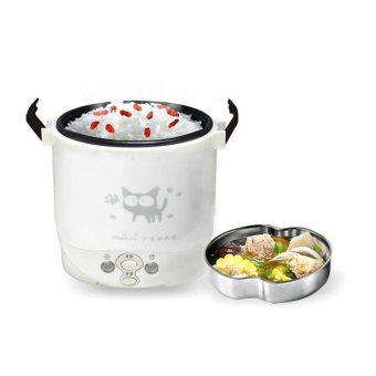 Hộp nấu và hâm cơm lồng inox Kore 1.0L (Trắng)