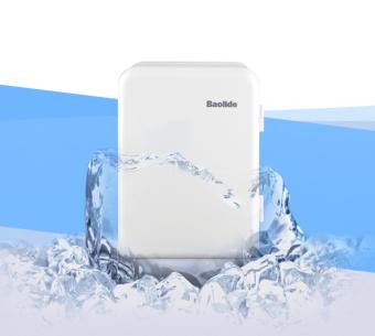 Tủ lạnh nhỏ mini beemun nguồn điện 220v và 12v (Trắng sữa)