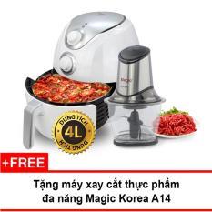 Lò nướng chân không Magic Korea A78 4L (Trắng) + Tặng máy xay thực phẩm Magic Korea 1.2L