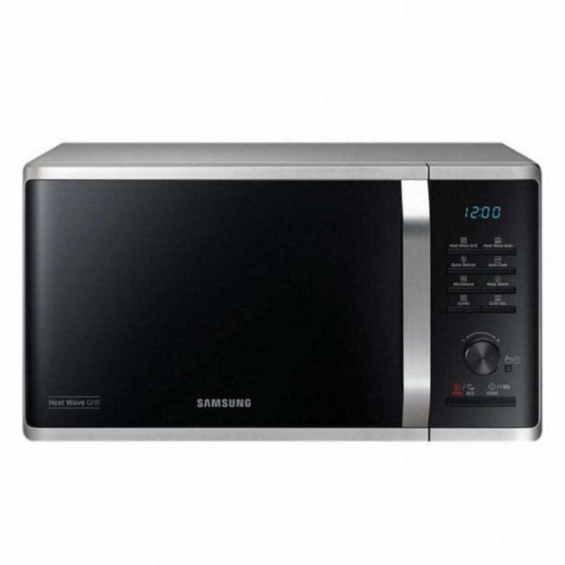 Lò vi sóng có nướng Samsung MG23K3575AS (Bạc cửa đen)