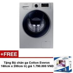 Máy giặt lồng ngang Samsung WW75K5210US/SV 7.5Kg + Tặng Bộ chăn ga Cotton Everon 160cm x 200cm trị giá 1.790.000 VNĐ chính hãng