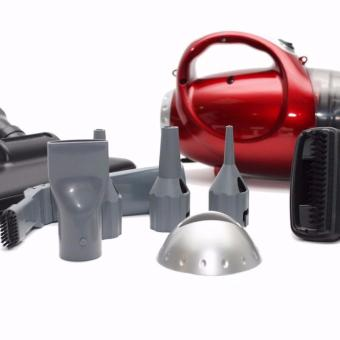 Máy hút bụi cầm tay 2 chiều hút và thổi Vacuum Cleaner JK-8 (Đỏ) tặng thảm lau hình bầu dục