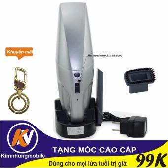 Máy hút bụi không dây cầm tay CCC09 (Bạc) Kim Nhung + Móc khóa cao cấp