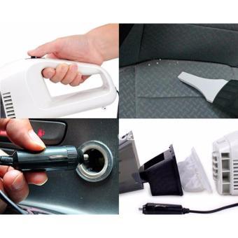 Máy hút bụi xe ô tô cầm tay đa năng Poptable (Đen phối trắng)