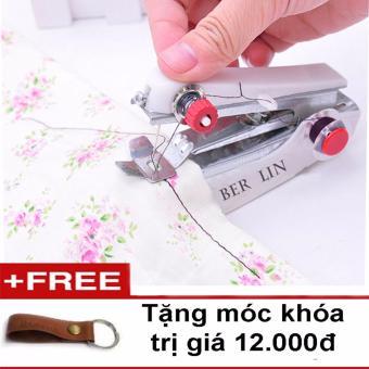 Máy khâu mini cầm tay ( tặng móc khóa da )