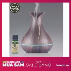 Bảng giá Máy khuếch tán tinh dầu bình hoa đen chứa 400ml phun 8-10 tiếng tạo ẩm, thơm phòng tặng 10ml tinh dầu ngọc lan tây Ngọc Tuyết