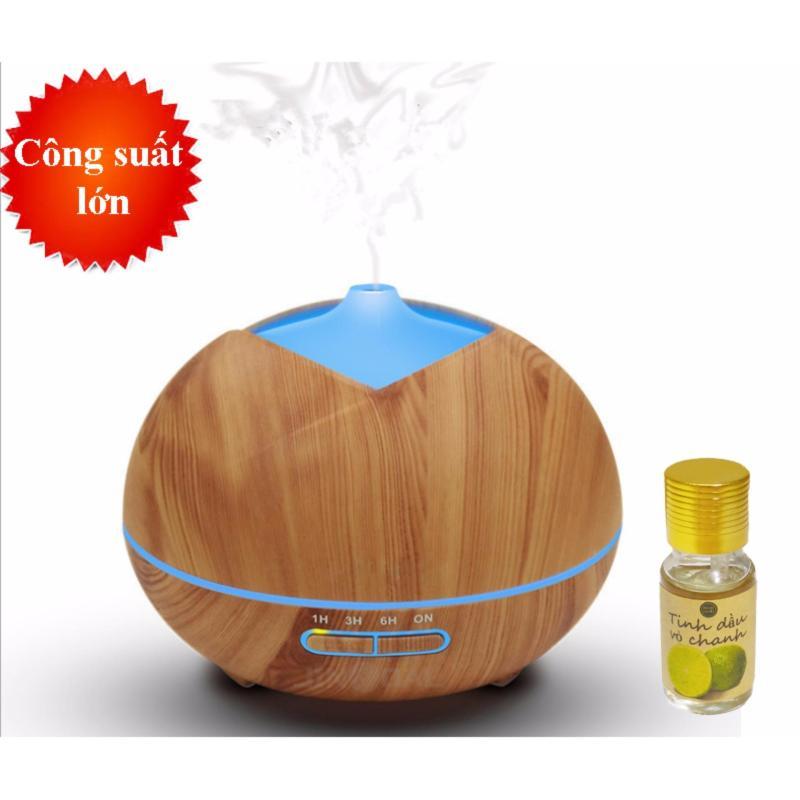 Bảng giá Máy khuếch tán tinh dầu dung tích 300ml tặng 10ml tinh dầu chanh Ngọc Tuyết