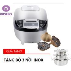 Giá bán Máy làm tỏi đen ceramic Mishio (Trắng) – Tặng bộ 3 nồi inox
