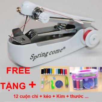 Máy may cầm tay mini Springcome + Kèm bộ dụng cụ khâu vá