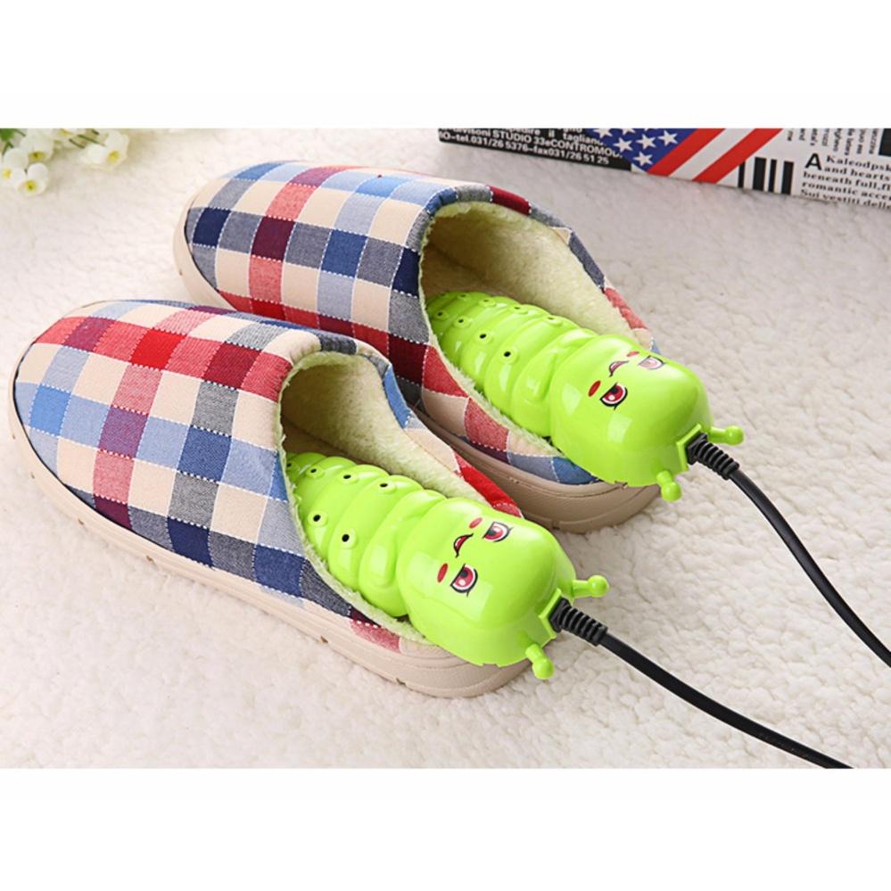 Máy sấy khô khử mùi cho giày hình Sâu xanh